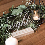 Engraved Clear Acrylic Table Numbers