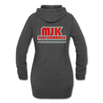 MJK Women's Hoodie Dress - heather black