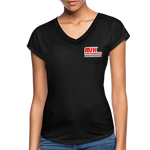 MJK Women's Tri-Blend V-Neck T-Shirt - Black - black