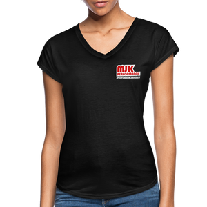 Open image in slideshow, MJK Women's Tri-Blend V-Neck T-Shirt - Black - black