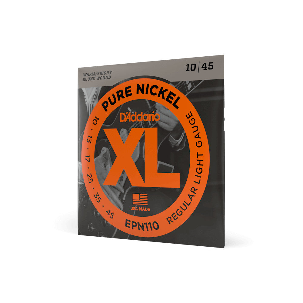 D'Addario EPN110 Pure Nickel Wound Regular Light 10-45 EPN110