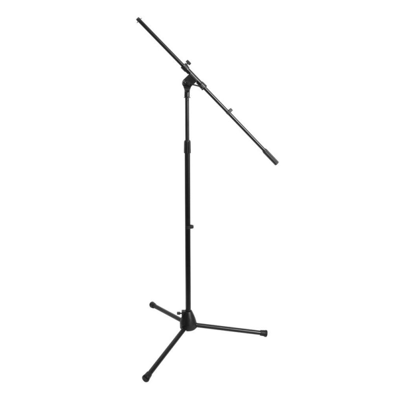 On-Stage Stands MS7701B Tripod Base Mic Stand - Black with Fixed Boom