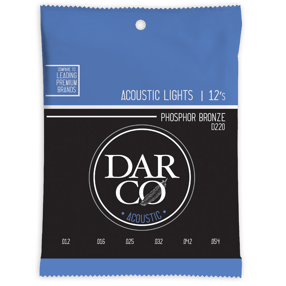 Martin Darco D220 Phosphor Bronze Acoustic Strings 12-54