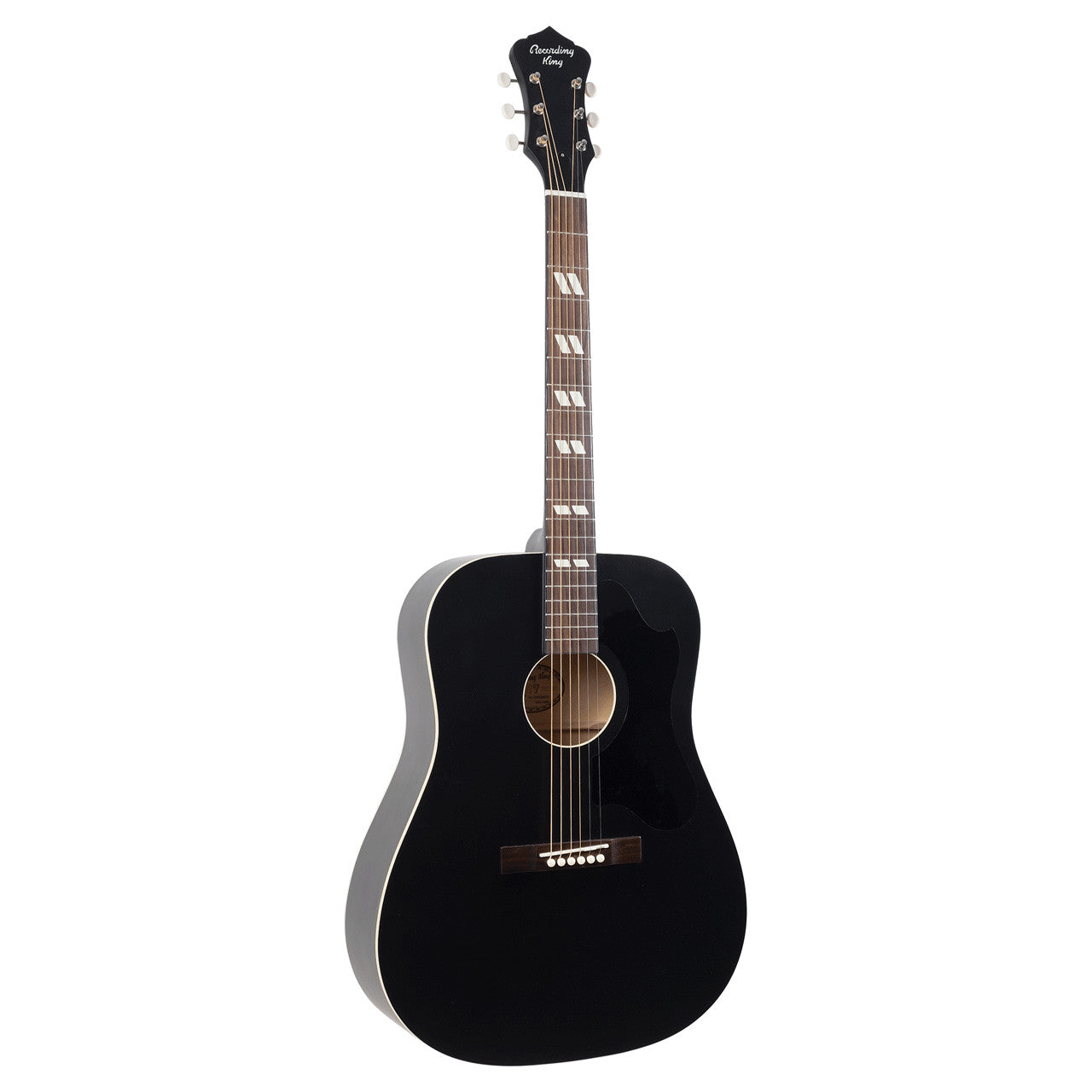 Recording King RDS-7-MBK Dirty 30s Series 7 Dreadnought Gtr Mat Blk