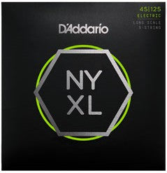 D'Addario NYXL45125 - Set Long Scale Bass - Lt Top / Med Btm - 5-String - 45-125