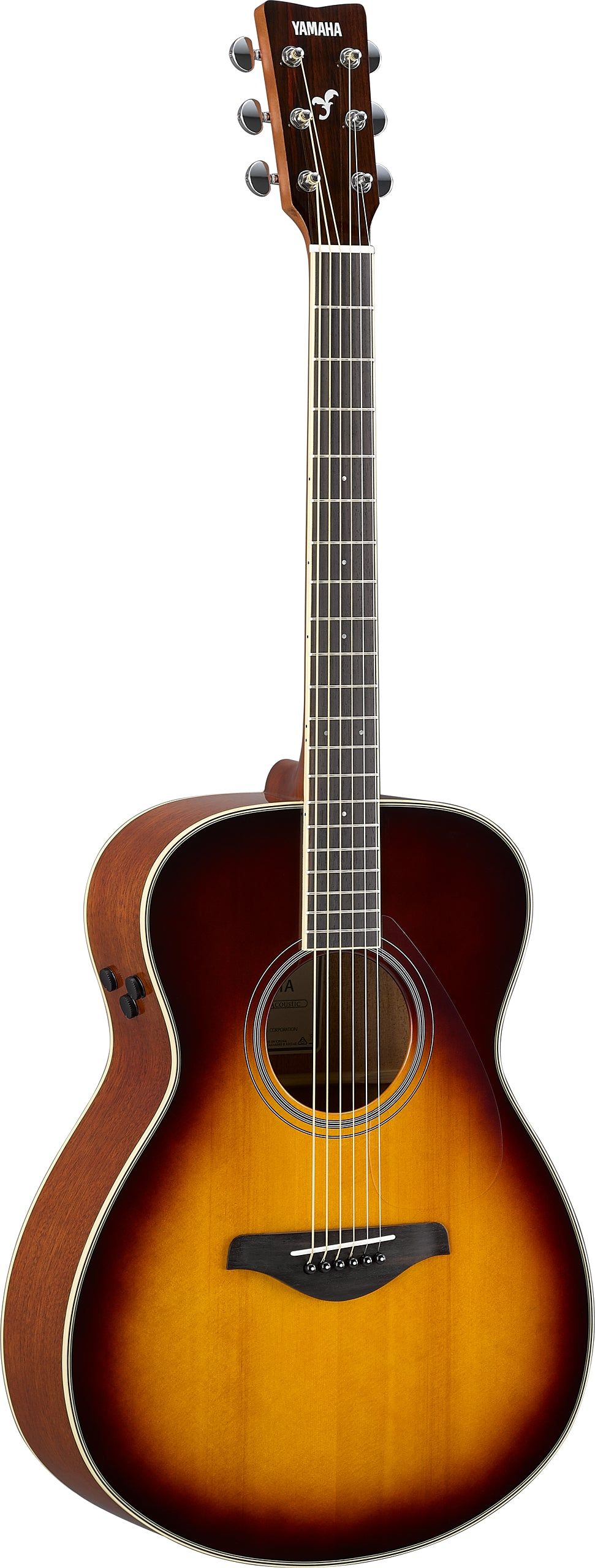 Yamaha FSTA BS TransAcoustic Guitars - Brown Sunburst