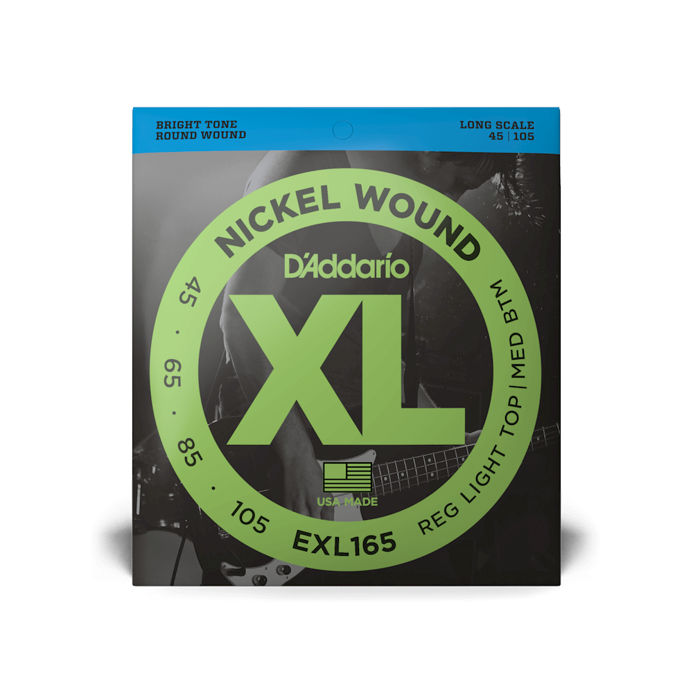 D'Addario EXL165 Nickel Wound Bass Custom Light 45-105 Long Scale