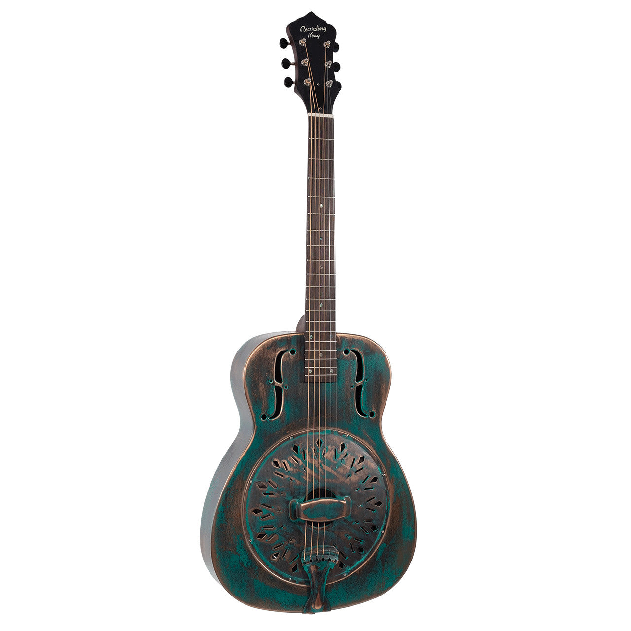 Recording King RM-997-VG Swamp Dog Resonator Guitar - Distressed Vntg Green