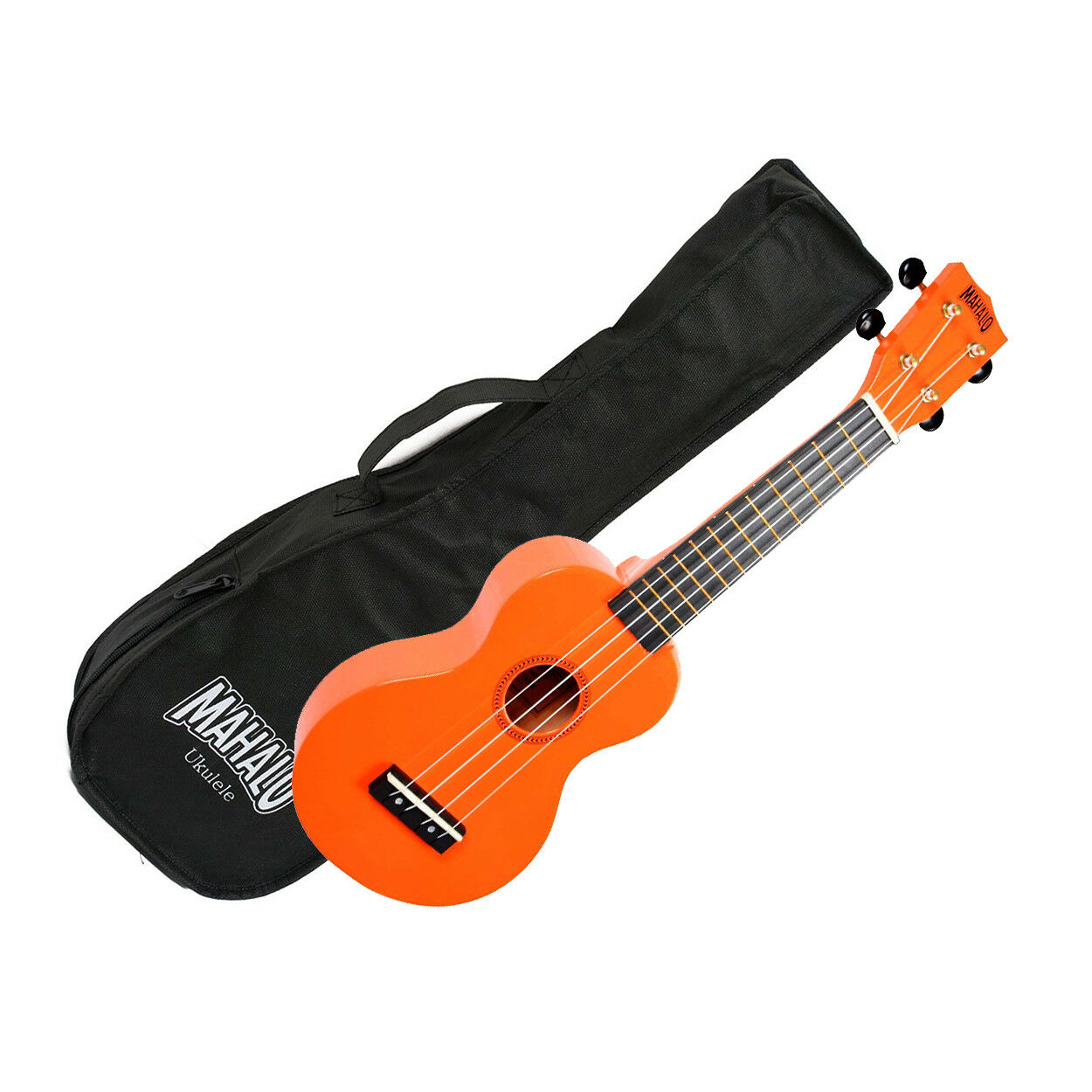 Mahalo MR1-OR Soprano Ukulele w/ Bag - Orange