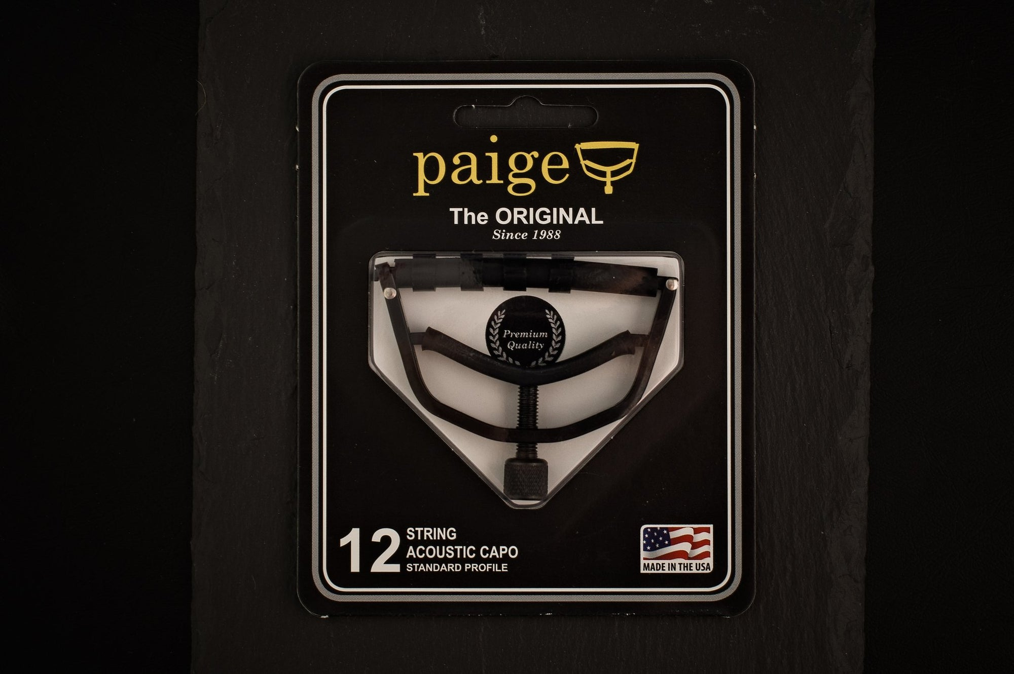 Paige 12 String Guitar Capo - Standard Profile Black