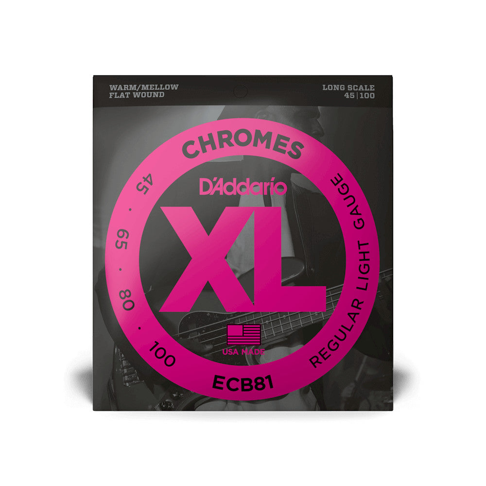 D'Addario ECB81 Chromes Bass - Light - 45-100 - Long Scale