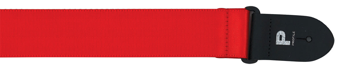 PGS300-RD 2'' Red Seatbelt Guitar Strap W Made in Canada