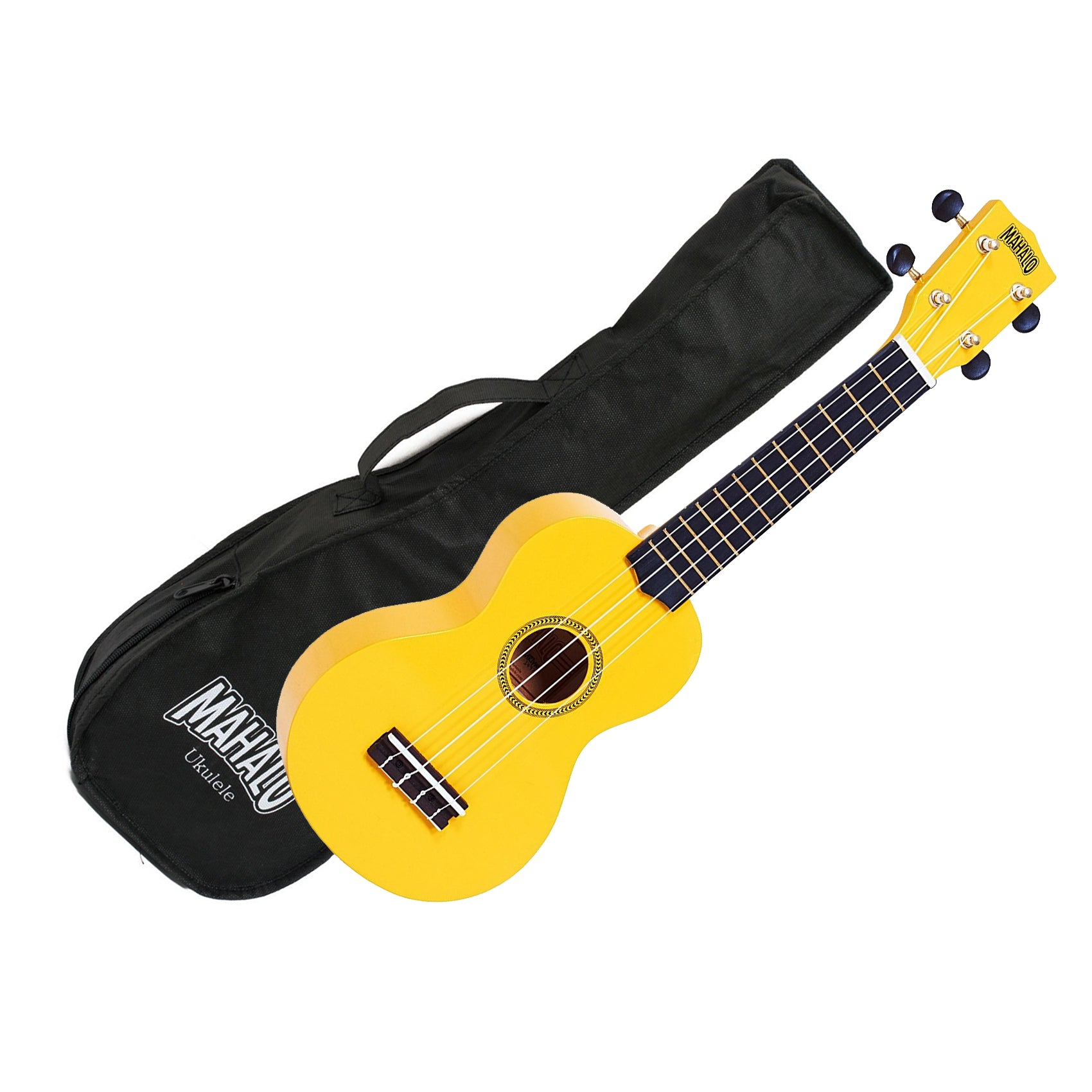 Mahalo MR1-YW Soprano Ukulele w/ Bag - Yellow