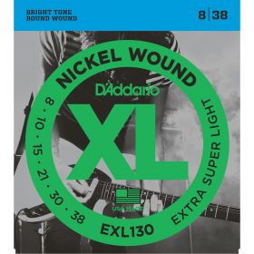 D'Addario EXL130 Nickel Wound Extra-Super Light 8-38