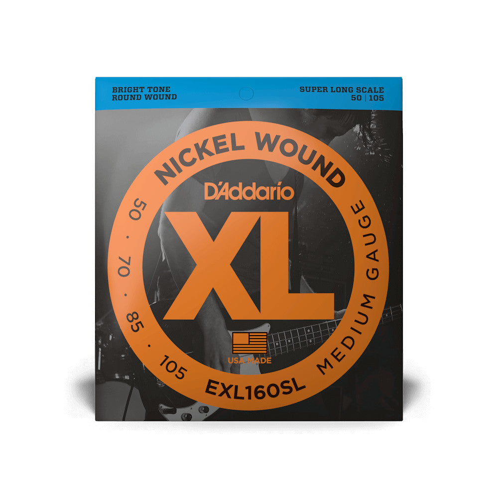 D'Addario EXL160SL Nickel Wound Bass Medium 50-105 Sup Long Scale