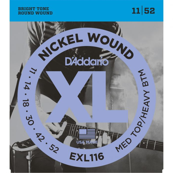 D'Addario EXL116 N W - Med Top/Heavy Bottom - 11-52