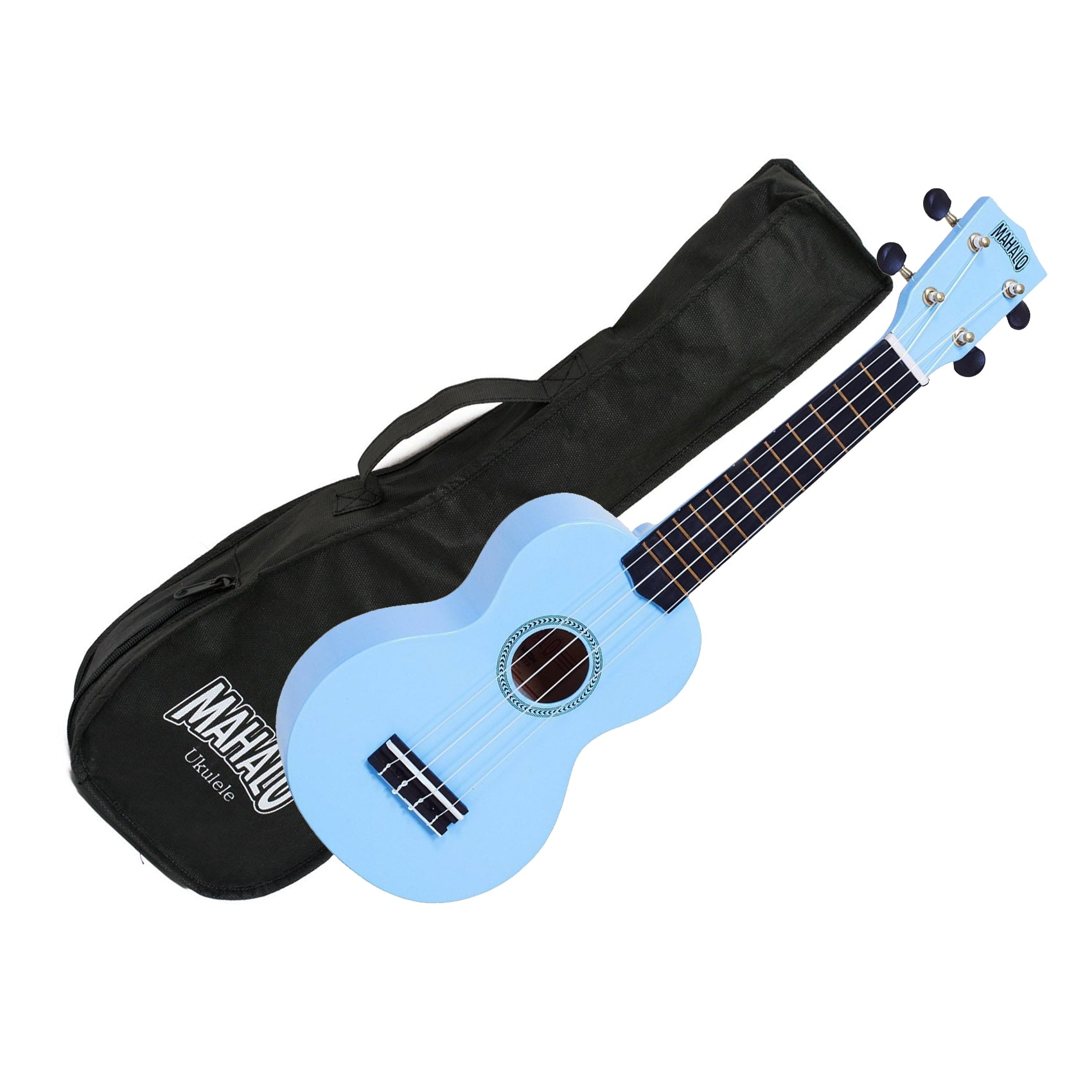 Mahalo MR1-LBU Soprano Ukulele w/ Bag - Light Blue