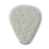 Dunlop White Beveled Felt Pick 3/Bag