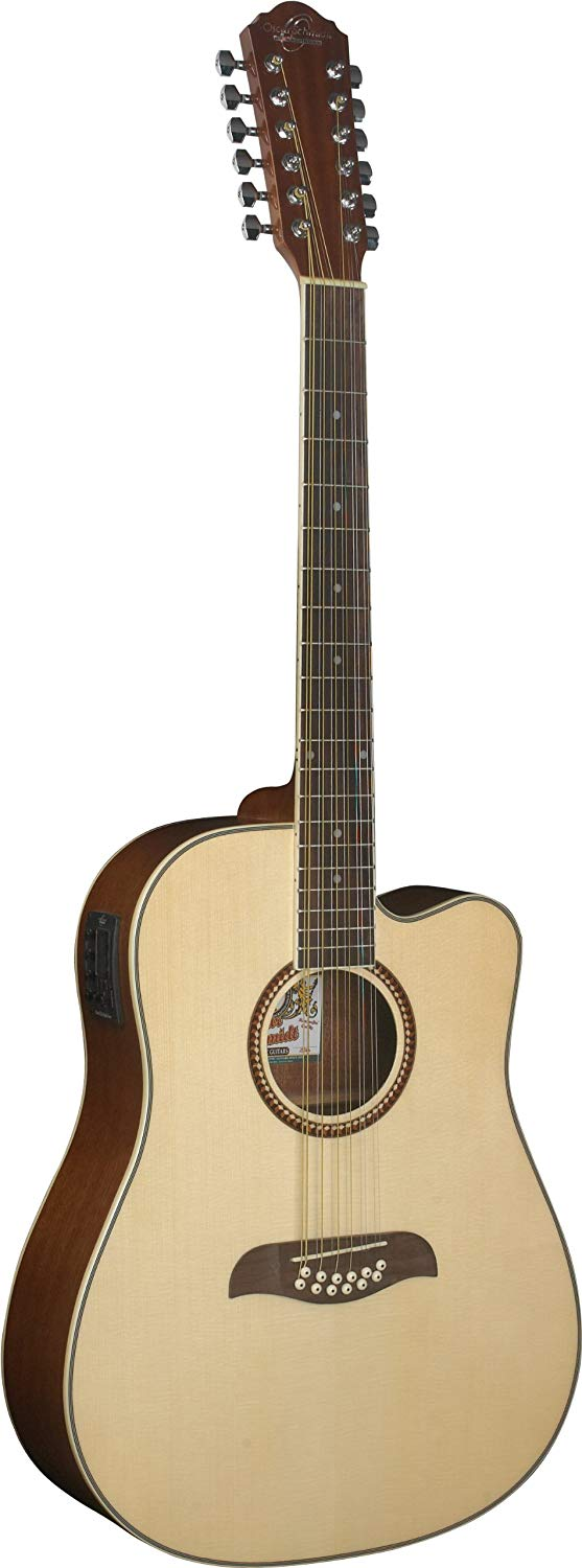 Oscar Schmidt OD312CE-A Acoustic-Electric Guitar 12 Str.- Natural