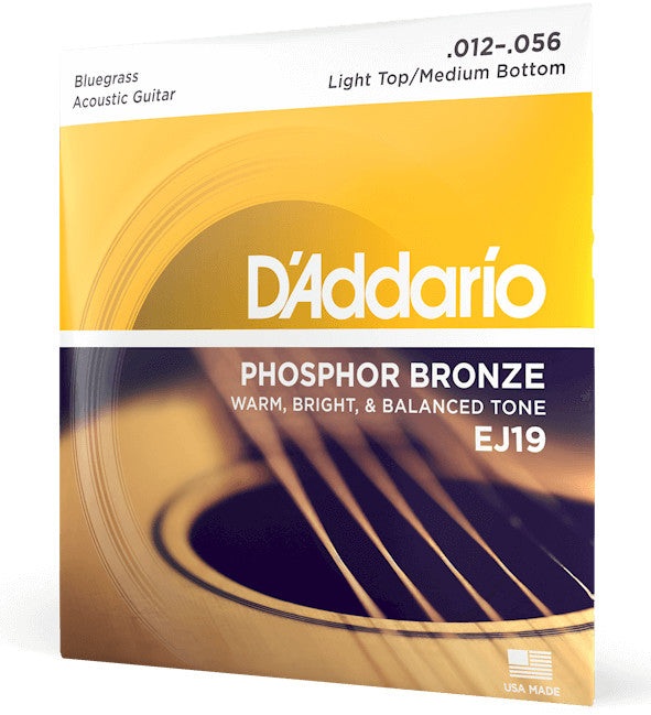 D'Addario EJ19 Phosphor Bronze Bluegrass 12-56