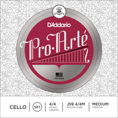 D'Addario J59 4/4M Pro-Arte Cello String Set - 4/4 Scale - Med