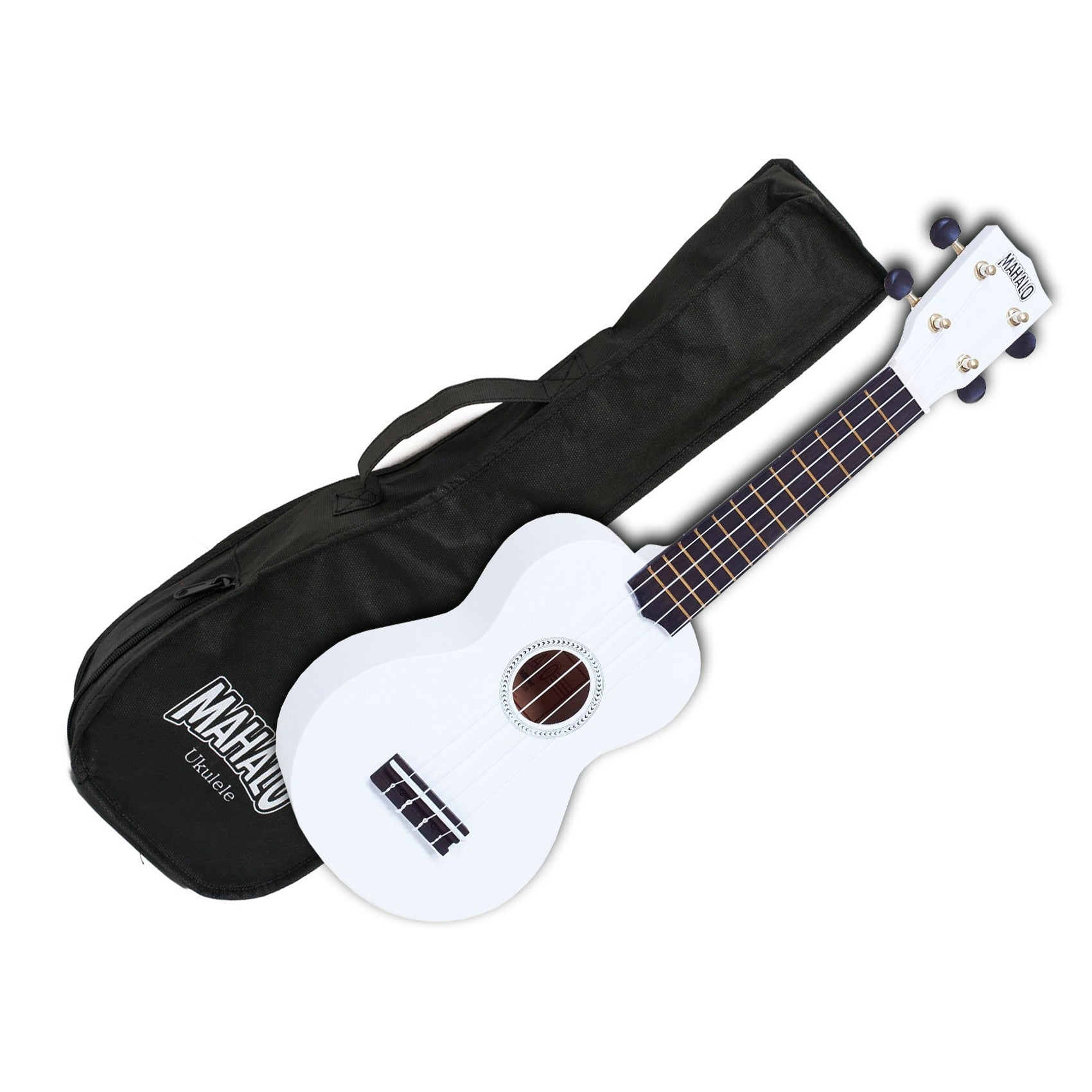 Mahalo MR1-WT Soprano Ukulele w/ Bag - White