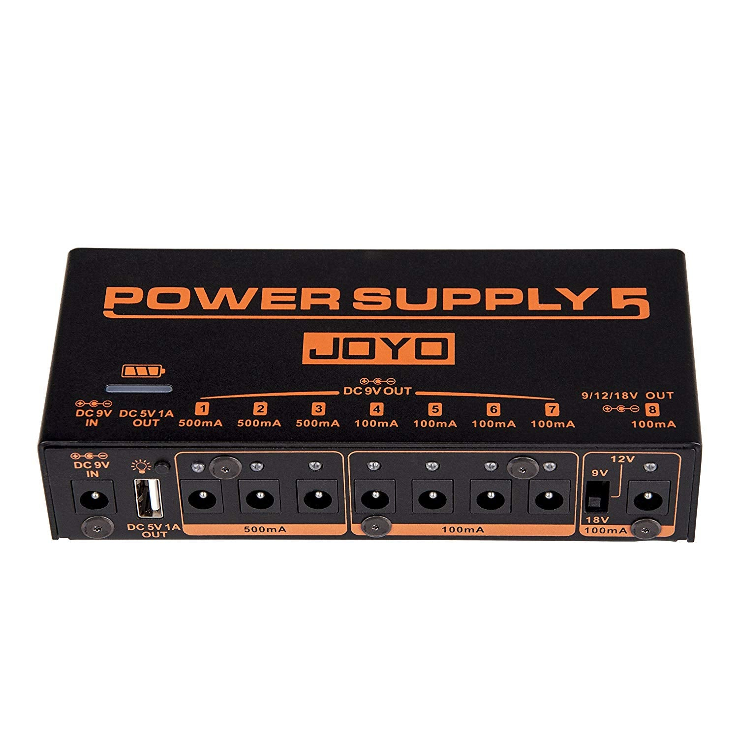 Joyo  JP-05 Power Supply 8 DC Outputs 1 USB ouput