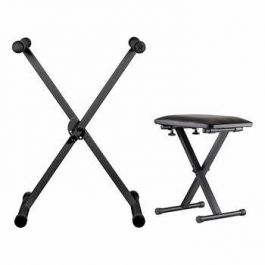 Yamaha KBP2300 Keyboard Stand & Bench - Black