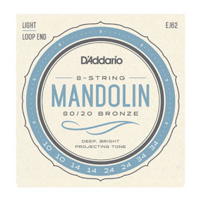 D'Addario EJ62 80/20 Bronze Mandolin Strings - Light 10-34