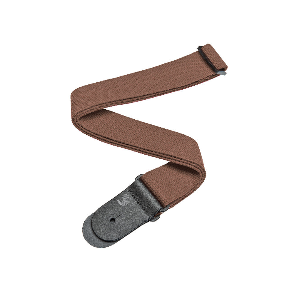 D'Addario Cotton Guitar Strap - Brown