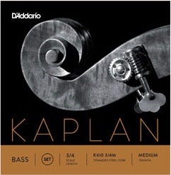 D'Addario K610-3/4M Kaplan Bass String Set - 3/4 Scale - Med