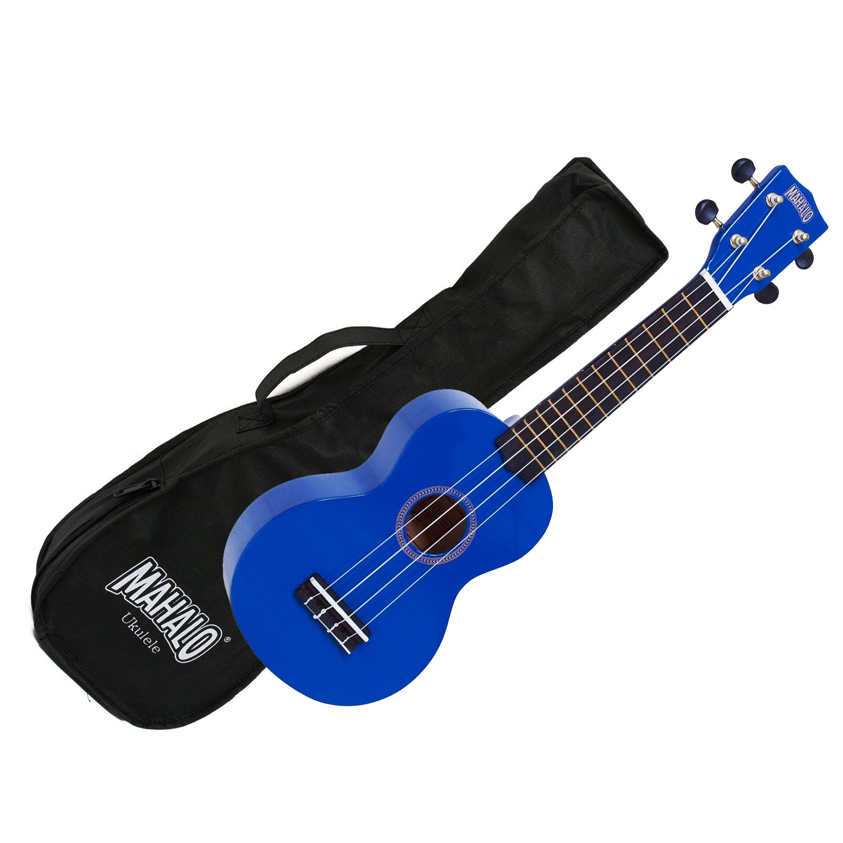 Mahalo MR1-BU Soprano Ukulele w/ Bag - Blue