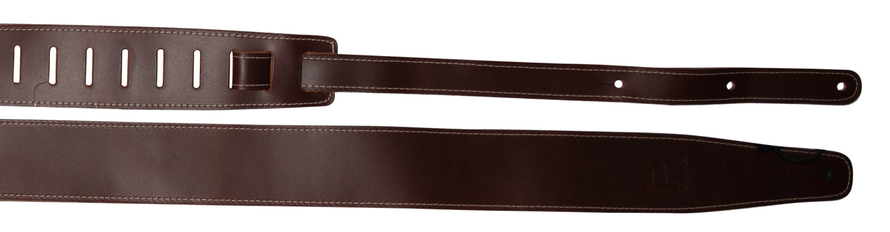 Profile PGS730-TN 2.5''Baseball Leather Gtr Strap - Brown