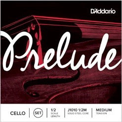 D'Addario J1010 1/2M Prelude Cello String Set - 1/2 Scale - Med