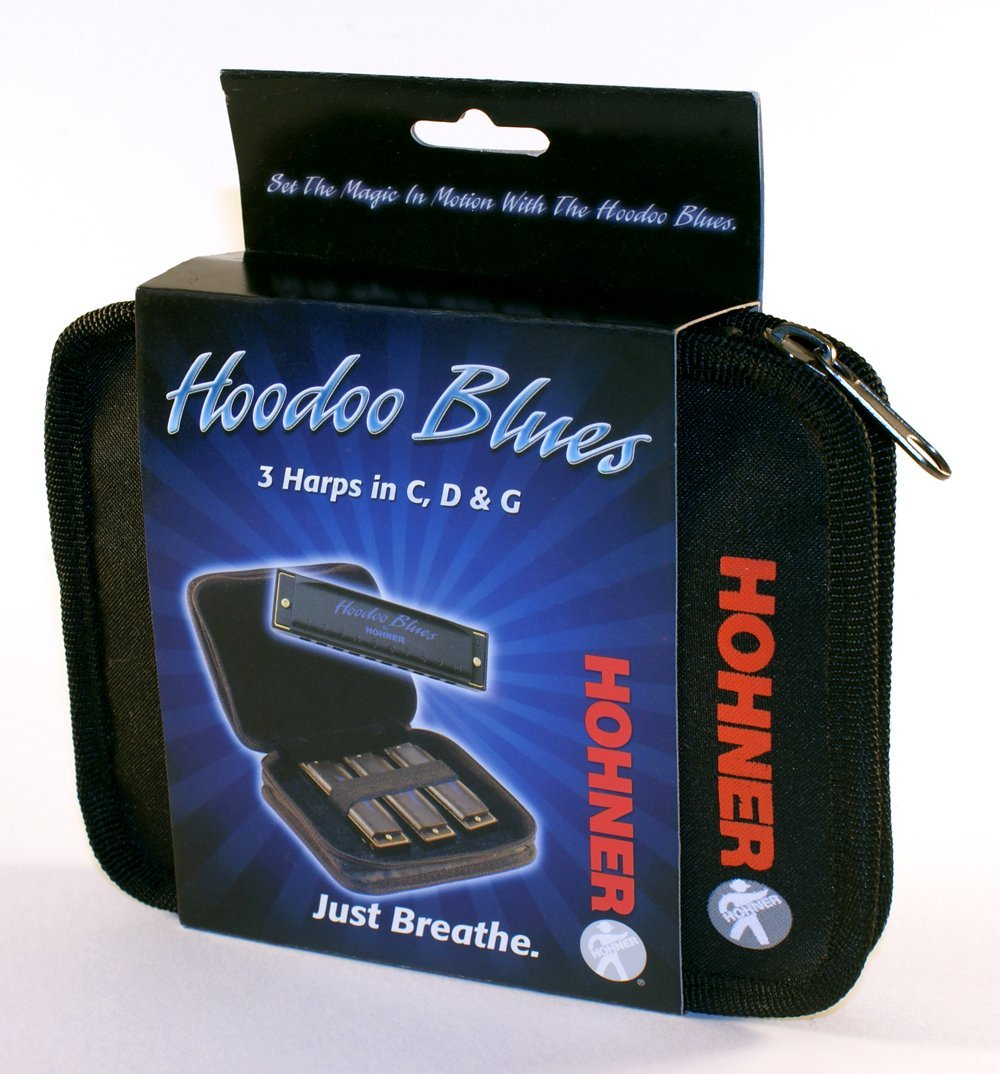Hohner HBP HooDoo Blues Harmonica, Key of C, D and G