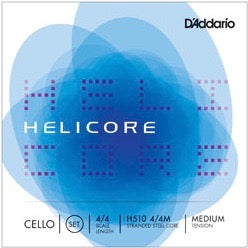 D'Addario H510 4/4M Helicore Cello String Set - 4/4 Scale - Med