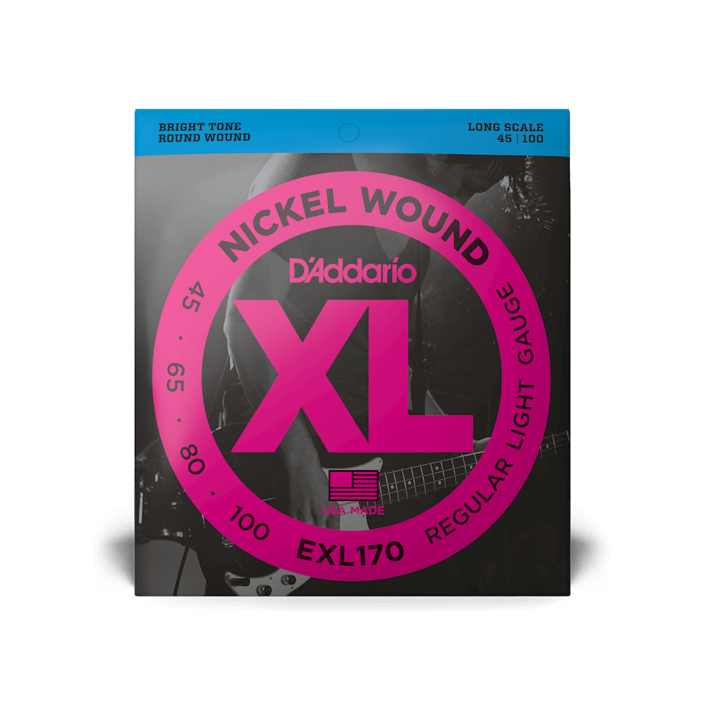 D'Addario EXL170 Nickel Wound Bass Light 45-100 Long Scale