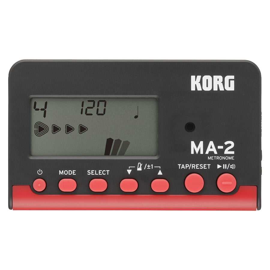 Korg MA-2 Digital LCD Metronome - Black/Red