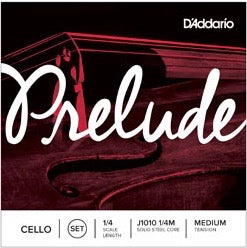 D'Addario J1010 1/4M Prelude Cello String Set - 1/4 Scale - Med