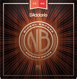 D'Addario NB1356 Nickel Bronze Acoustic Guitar Strings Medium 13-56