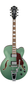 Ibanez AFS75T-MGF Artcore Holow Linden Body-Metallic Green Flat