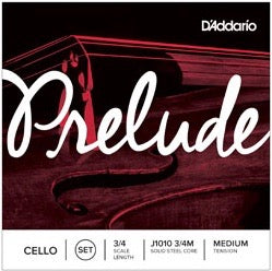 D'Addario J1010 3/4M PRELUDE CELLO SET 3/4 MED