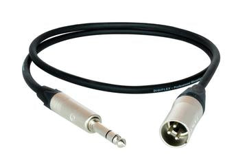Digiflex NXMS-10 10 Foot NK2/6 Adapter Cable -XLRM to Stereo Phone Plug