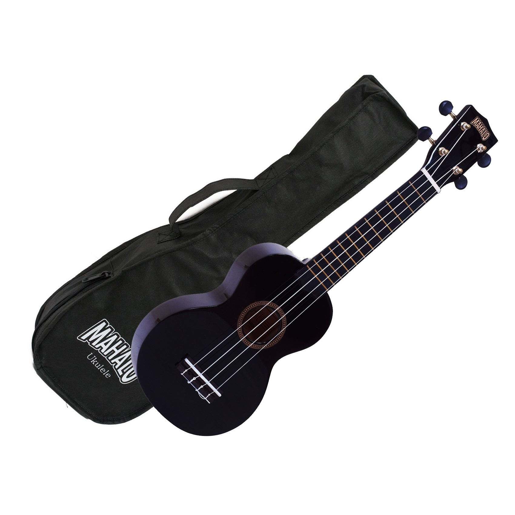 Mahalo MR1-BK Soprano Ukulele w/ Bag - Black