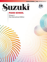 Suzuki Piano School New International ED Piano Book And Cd - Vol 2