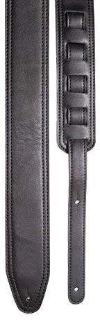Profile PGS800-BK Deluxe Leather Guitar Strap - Black