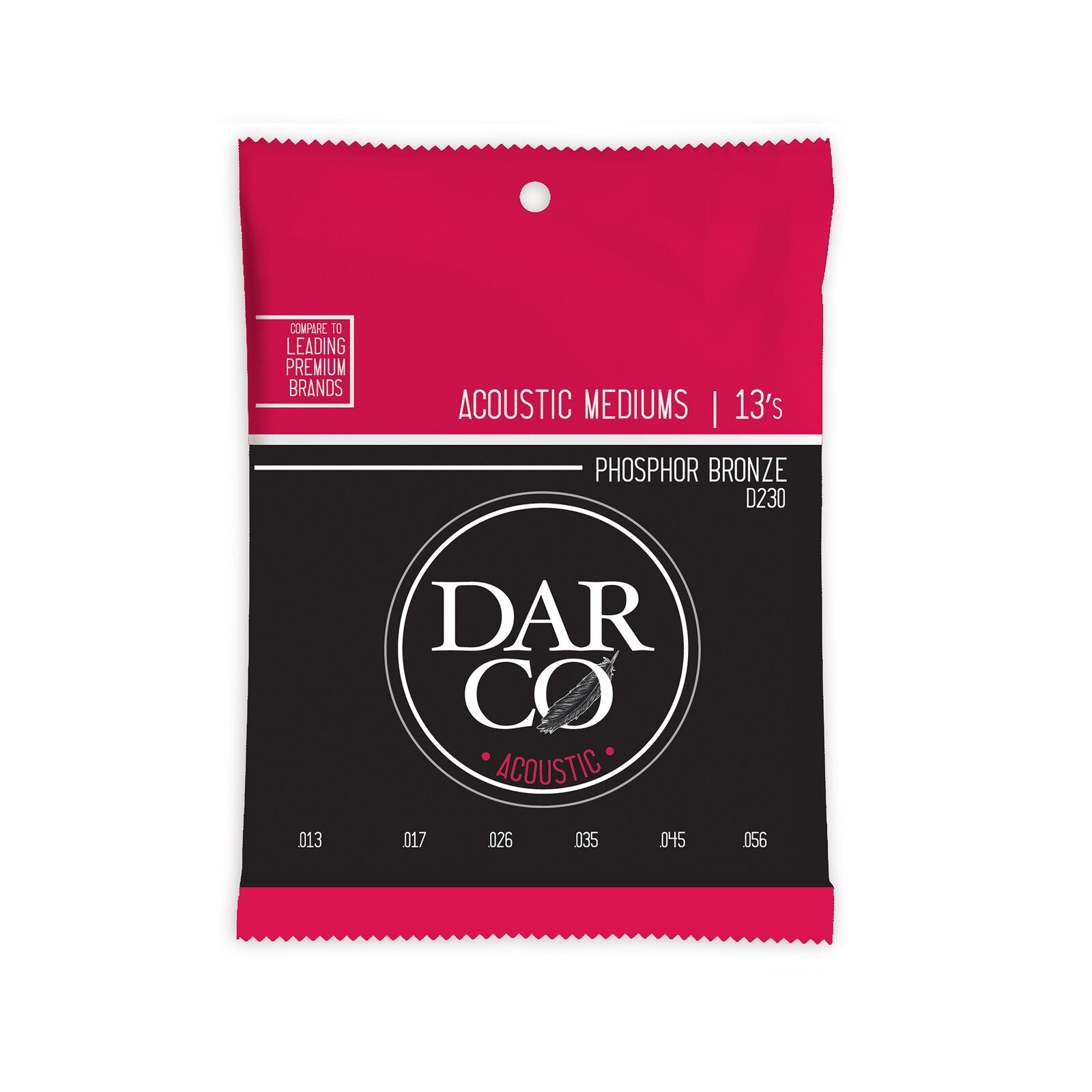 Martin Darco D230 Phosphor Bronze Acoustic Strings 13-56