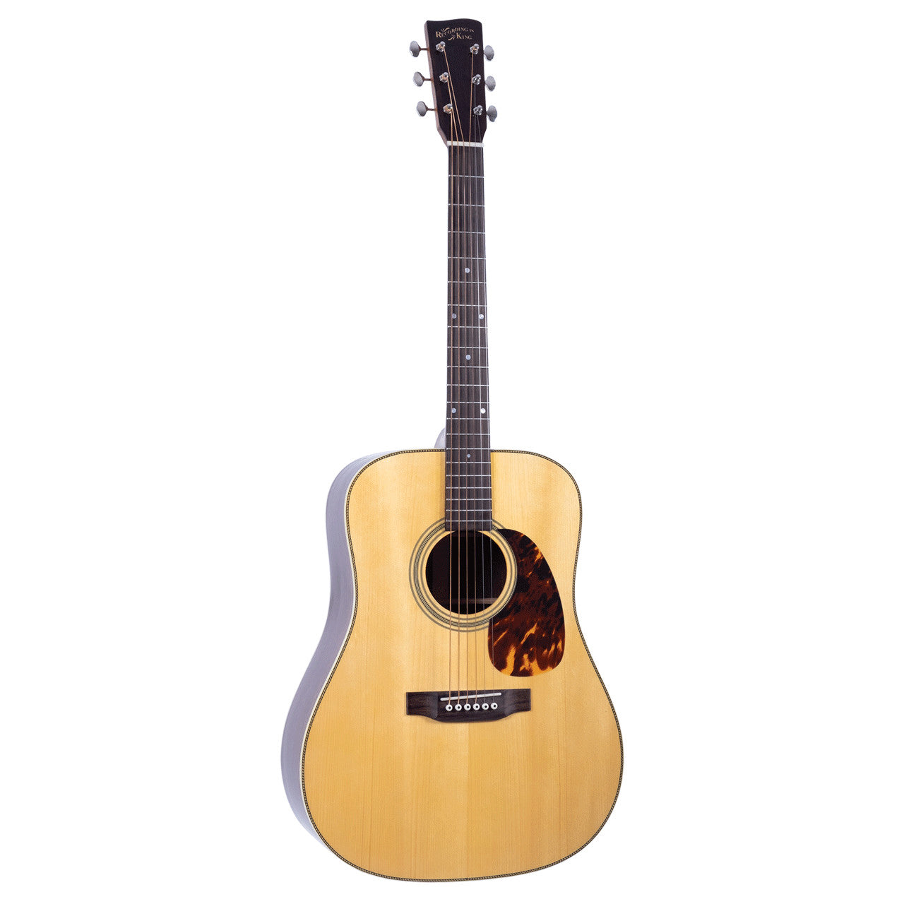 Recording King RD-328 All Solid Dreadnought, Aged Adirondack Top