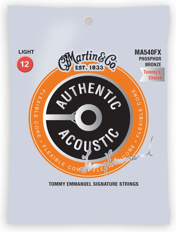 Martin MA540FX  Flexible Core Acoustic Strings Light Tommy Emmanuel