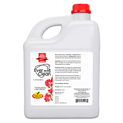 EverClean All in 1 Sanitizer Yummy Berry 5 Litre